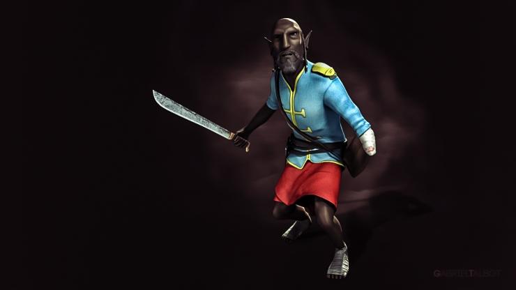Design personnage 3D,plein pied, Gabriel Talbot