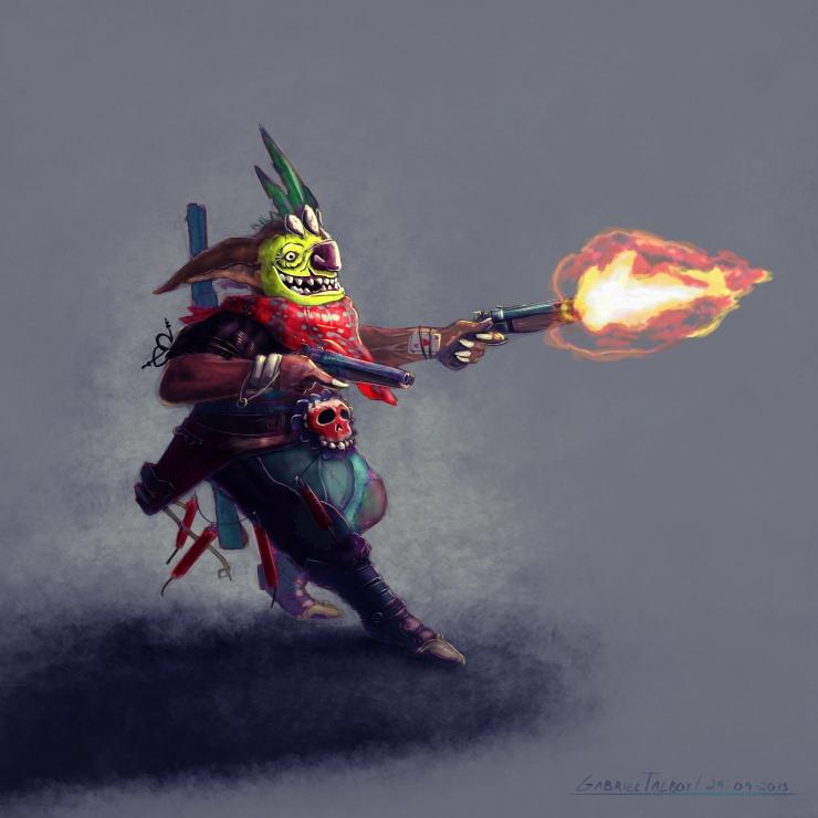 Goblin Gun - Character Design - Gabriel Talbot