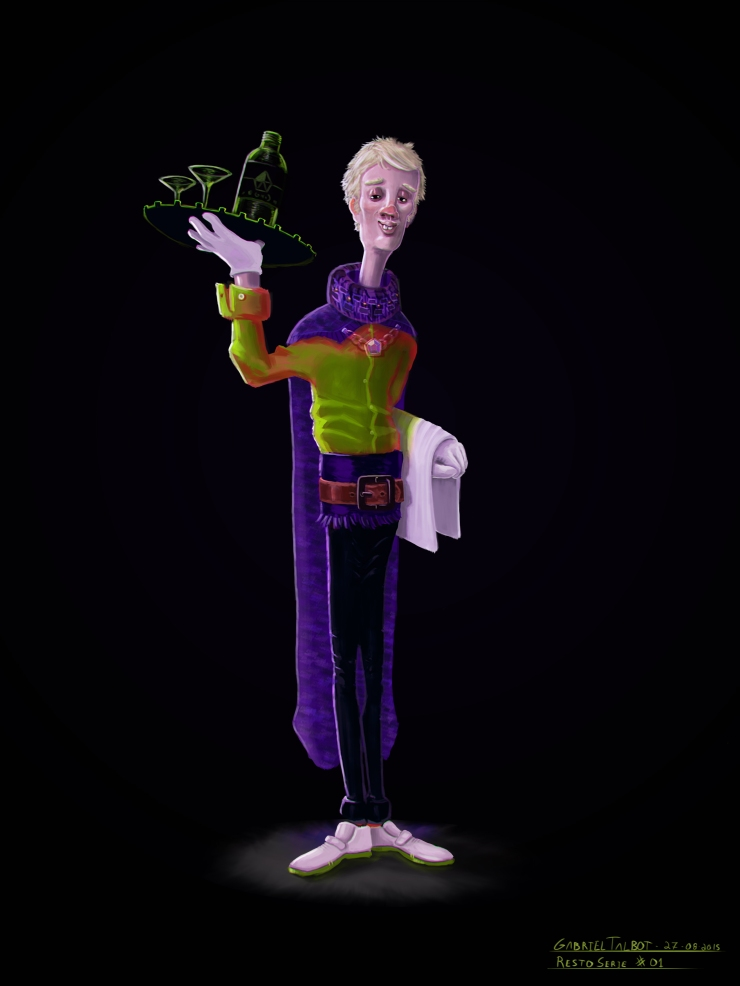 Resto Staff - Character Design - Gabriel Talbot