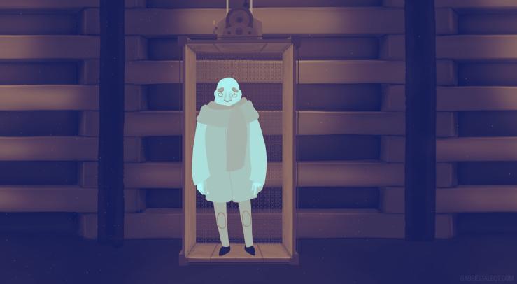 Meta Secret Elevator - Set  Design - Gabriel Talbot