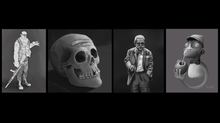 Black And White  - Character Design - Gabriel Talbot